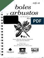 Arboles y Arbustos Ecoparque Rio Pance