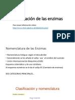 Clasificación y Cinética Enzimática. Ejercicios