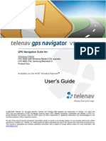 TeleNav Version 5.2 User's Guide - AT&T (Windows Mobile 8525, 8925, BlackJack2, Pantech Duo)