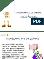 Manejo de Cargas e Higiene Postural Manual de Cargas Higiene Postural