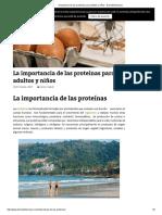 Importancia de Las Proteínas Para Adultos y Niños - Diariodefarmacia