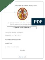 Informe Clasificacion de Los Aceros