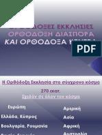 Θ.Ε.1  Ορθόδοξες Εκκλησίες, Ορθόδοξη διασπορά και Ορθόδοξα κέντρα