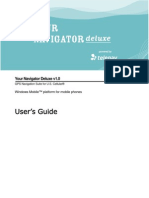 Your Navigator Deluxe v1.0 User's Guide - US Cellular (Windows Mobile)