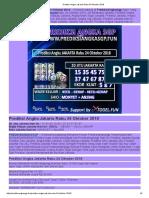 Prediksi Tepat Angka Jakarta Rabu 24 Oktober 2018