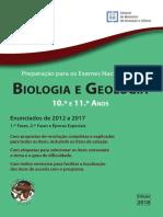 Folheto Biol. e Geol. 10.o 11.o Anos Enunciados e Resolucoes 2012 2017