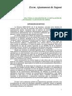 Ordenanza Agiliación de Instalación Actividades y Ejecución de Obras