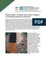 Agra Innovate Market Report - Cowpea Value Chain in Nigeria