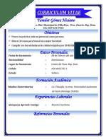Curriculum Yamilet Gómez Hiciano