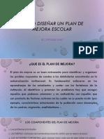 Como Diseñar Un Plan de Mejora Escolar