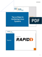 Top 10 Steps to Hardening Linux Systems