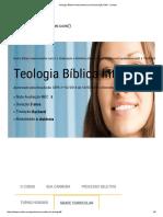 Teologia Bíblica Interconfessional Graduação EAD - Uninter