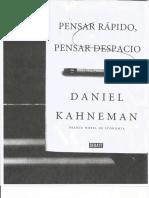 Kahneman pensar rápido pensar despacio