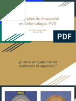 Materiales de Impresión en Odontología - PVS