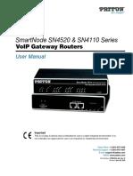 Patton FXO Gateway Administrators Manual