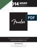 Fender Instruments Price List