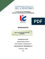Monografía Test de Eysenck
