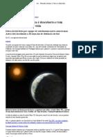 G1 - Planeta similar à Terra é descoberto e tem potencial para conter vida - notícias em Ciência e Saúde
