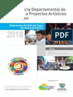 Instructivo Convocatoria Departamental de Estímulos a Proyectos Artísticos y Culturales La Cultura Está en Vos 2018