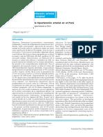 Epidemiología de La Hipertensión Arterial en El Perú