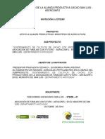 Terminos de Referencia Fertilizantes Alianza ASFACONFU
