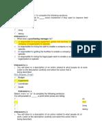 Evaluacion de Vocabulary Actividad 12