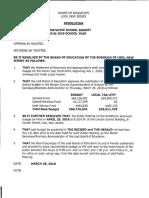 2018-19 School Budget