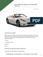Rental & Sewa Ferrari California Harian Murah ☎ 0821 1313 0173 TravelBos.id