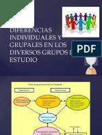diferencias individuales y grupales en los diversos grupos de estudio
