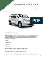 Rental & Sewa Nissan Grand Livina Harian Murah ☎ 0821 1313 0173 TravelBos.id