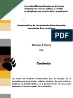 Hermenéutica de la conciencia discursiva en la comunidad bear mexicana