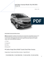 Rental & Sewa Toyota Grand New Avanza Harian Murah ☎ 0821 1313 0173 TravelBos.id