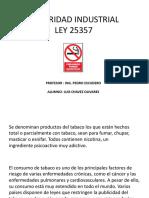 Ley  N°25357 , seguridad industrial