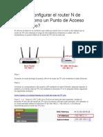 Cómo Configurar El Router N de TP
