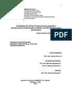 Variabilidad Del LPS de Porphyromonas Gingivalis y Porphyromonas Endodontalis