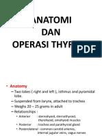 Anatomi & Op Thyroid