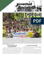 ¿Porqué miles luchan contra la cuota?, Boletín #14, Octubre 2010