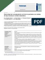 Efectividad Manipulacion Cervical - Rev. Sistematica