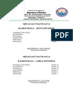 Basketball Result