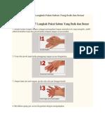 Cara Cuci Tangan 7 Langkah Pakai Sabun Yang Baik Dan Benar