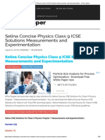 Selina Concise Physics Class 9 ICSE Solutions Measurements and Experimentation