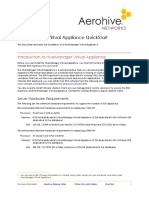 HiveManager Virtual Appliance QuickStart 330029 10 RevA