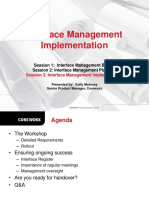Coreworx Interface Management Implementation Webinar October2013