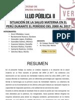 8. Situación de La Salud Materna en El Perú 2000 2017