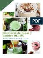 Recetario Jugos y Batidos Detox Master en Alimentacion Consciente