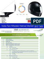 India Two Wheeler Helmet Market - 2022 | TechSci Research