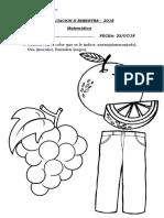 Evaluacion II Bimestre Matematica