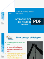1 Introduction to CB Religion