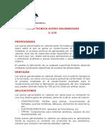 FICHA TECNICA ACERO GALVANIZADO.pdf