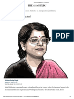 Who is Indu Malhotra
